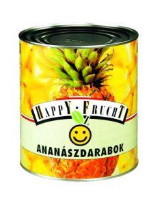 Ananas kousky 3050g Happy F.