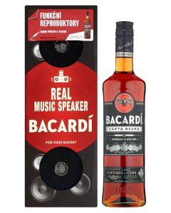 Bacardi Carta Negra 40% 0.7l + Music Box