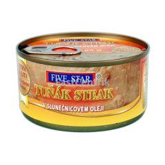 Steak z tuňáka žlutoploutvého v oleji 185g Five Star