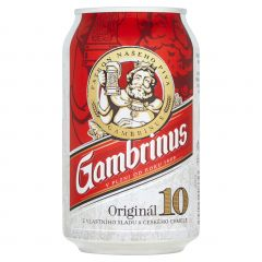 Gambrinus 10° 0.33l/24 plech